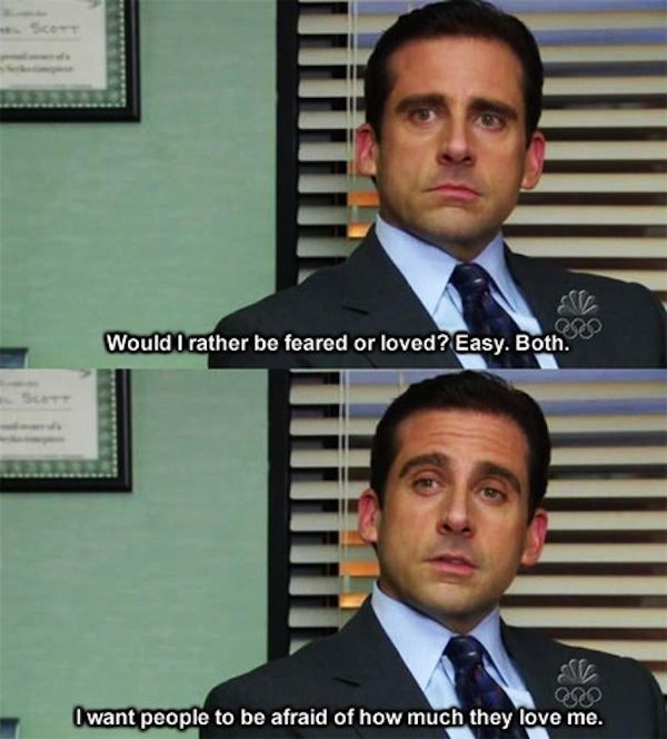 Wisest Things Michael Scott Ever Said... He spoke wisdom about his theory of leadership...