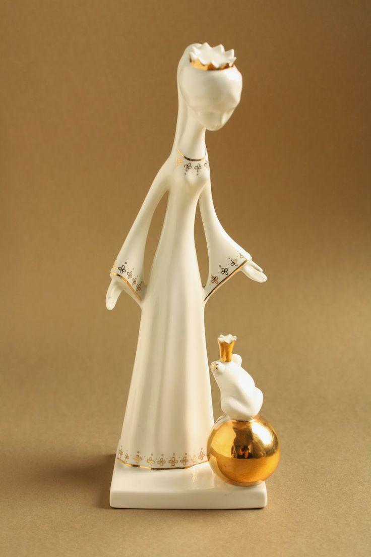 Art deco porcelain: The Princess and the frog - Aquincum