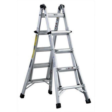 Louisville Ladder L-2098-17 6'-17' Aluminum Multi-Purpose Ladder, Type IA, 300 Lbs Rated, Multicolor