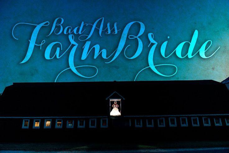 INSPIRATION • BAD ASS FARM BRIDE | kiex fotography & design  #bride #glowinthedark #barnwedding #barnloft #farmwedding