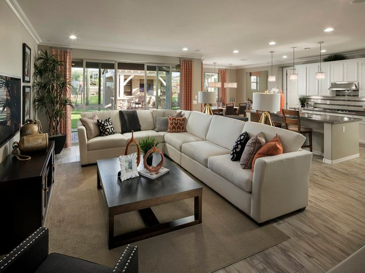 Sliding Glass Doors Link This Great Room To An Inviting