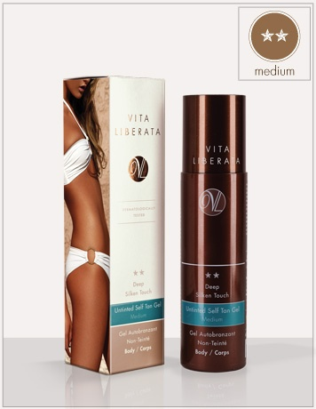Deep Silken Touch: Body. Untinted Self Tan Gel Medium Body | Vita Liberata