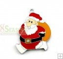 10Pcs Enamel Christmas Santa Claus Charms 37x26mm Santa Claus is coming to give you a gift.$2.12