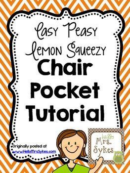{Free} Easy Peasy Lemon Squeezy Chair Pocket Tutorial