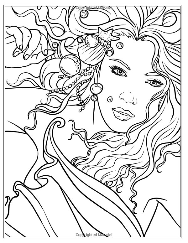 Artist Selina Fenech Fantasy Mermaid Siren Coloring Pages Colouring Adult