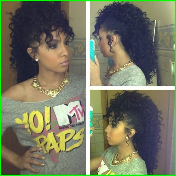 Curly Weave Mohawk Hairstyles 7864 Curly Mohawk Curly Hair Fantasy Natural Hair Styles Curly Hair Styles Hair Styles