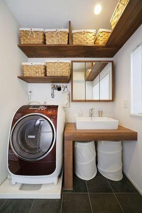 【洗面】【収納】素材選びでオシャレ度アップ♪【洗面台事例集】 - NAVER まとめ                              …