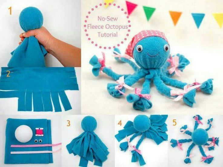 No sew fleese octopus