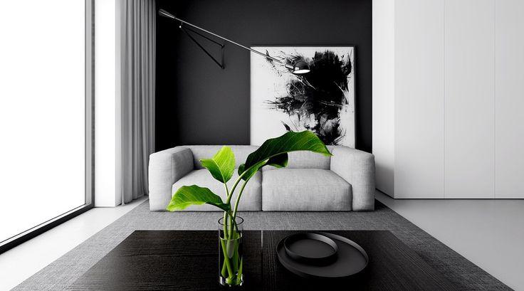 4 Monochrome, Minimalist Spaces Creating Black and White Magic