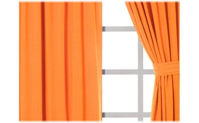 New Orange Set of Curtains Naranja Cortinas on eBay!