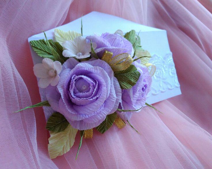 Цветы открытки с гофробумагой, магнита