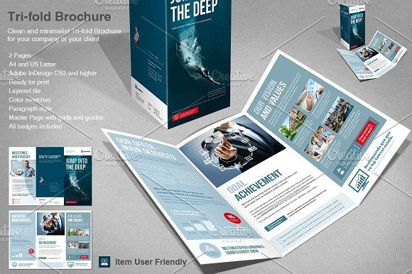 Corporate Tri-fold by TypoEdition on @creativemarket
