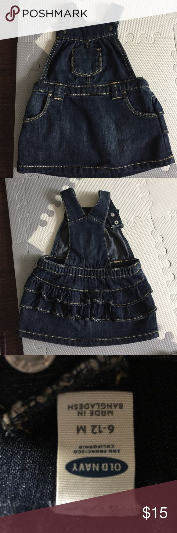 Old Navy overalls Worn once no signs of use. Size 6-12 month Old Navy Dresses Casual