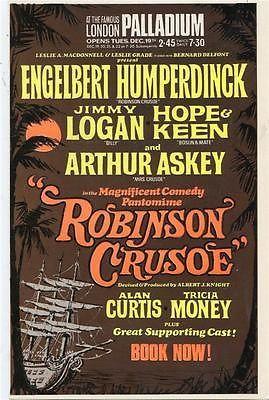 Palladium Panto Arthur Askey Humperdinck Jimmy Logan 1967 flyer