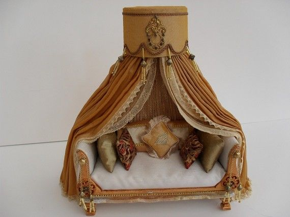 Empire bed with canopy miniature