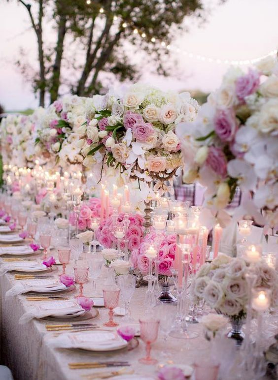 2317 best images about centrepieces on pinterest for Wedding reception centrepieces