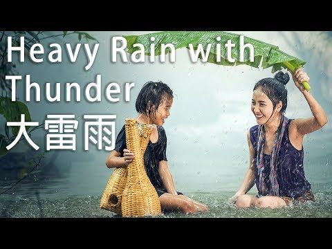 🎧4K Loseless HQ Sound | Pure Nature Heavy Rain and Thunder Sound, Relax, Yoga, Sleeping 放鬆冥想睡眠,專注