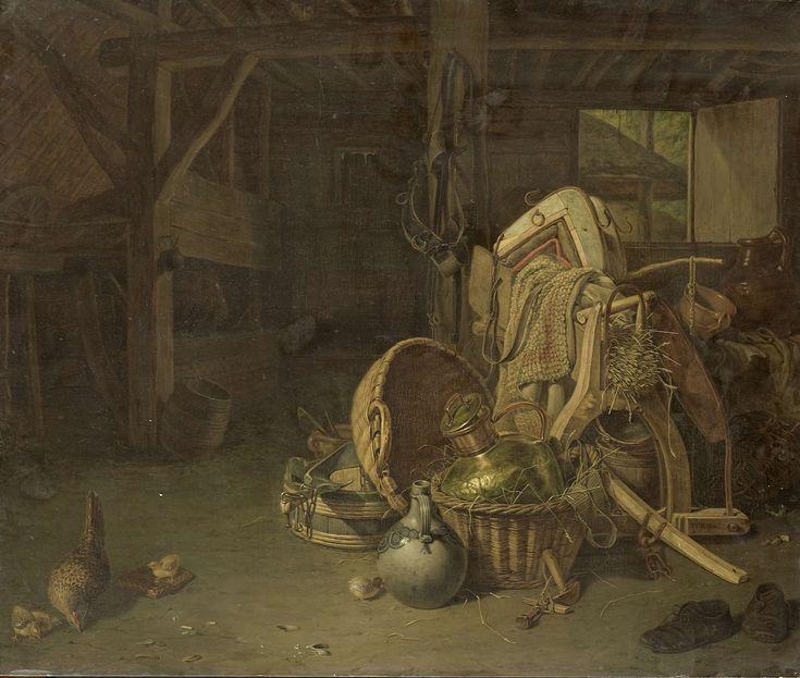 Still Life in a StableStilleven in een stal, François Cornelis Knoll, 1824