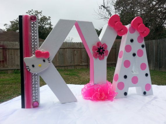 Customized Hello Kitty Letters on Etsy, $15.00