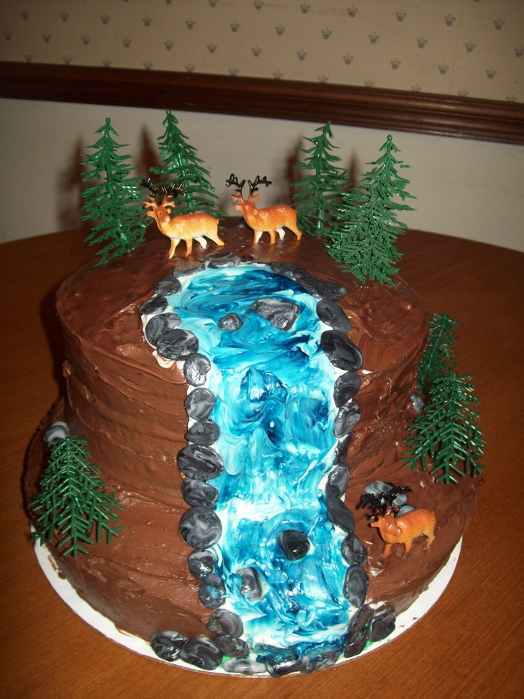 Safari Birthday Cake With Waterfall