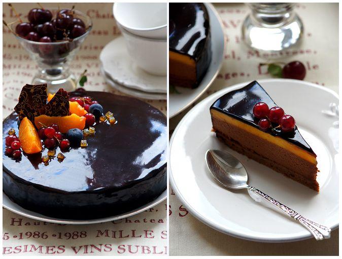 """Торт """"Шоколад и маракуйя"""""""