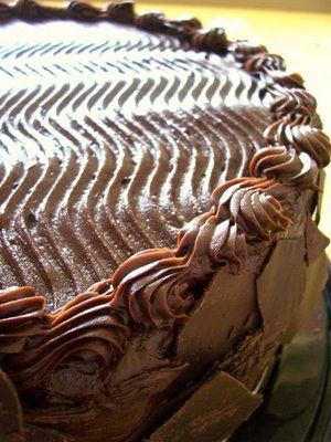 All-American Chocolate Cake from Costco - I know, I know, it's not homemade... but believe me (a chocolate fanatic), this is four layers and seven pounds of chocolatey HEAVEN!