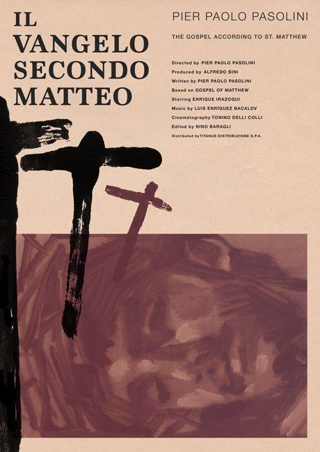 Tony Stella's poster for Pier Paolo Pasolini's The Gospel According to St. Matthew (1964).