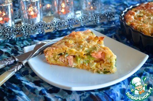 Рыбный пирог с рисом
