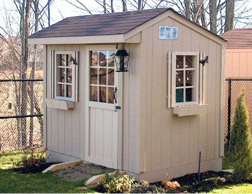 6x8 carriage style garden shed