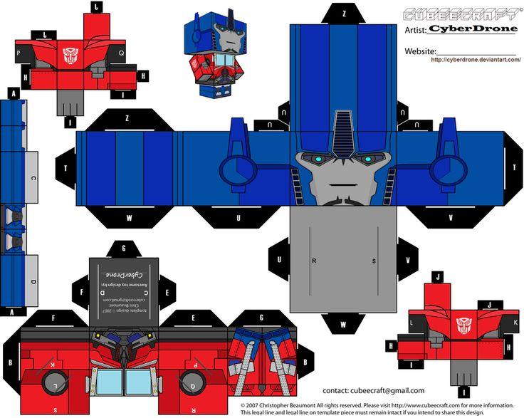 Cubee - Optimus Prime 'TF- Prime' v1 by CyberDrone.deviantart.com on @deviantART