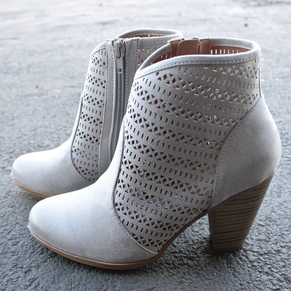 shaking it off suede ankle boots - grey - shophearts - 1