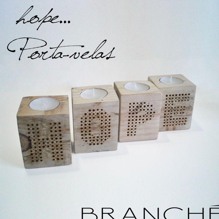 HOPE Porta-velas Tocos de paletes