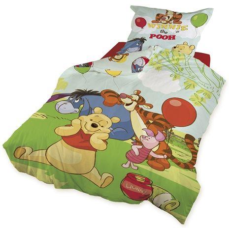 Disney Nalle Puh, Bäddset, 150x210 & 50x60 cm Sängkläder till junior- & vuxensäng Textilier Barnrum på nätet hos Lekmer.se
