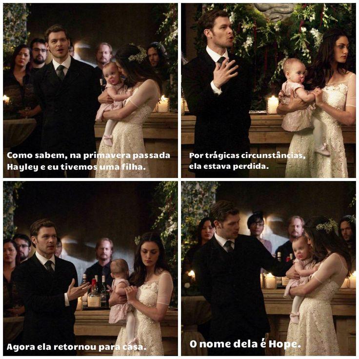 "The Originals – TV Série - Niklaus ""Klaus"" Mikaelson - Joseph Morgan - Hayley Marshall - Phoebe Tonkin - baby Hope Mikaelson - bebê - casal - couple - amor - love - daughter - filha - father - pai - mother - mãe - happy family - família feliz - dress wedding - vestido de noiva - rosa - rose - pink - pantyhose - meia calça - moda - style - look - inspiration - inspiração - fashion - elegante - elegant - chic - citações - quotes - frases - tumblr - 2x14 - I Love You, Goodbye - Eu Te Amo, Adeus"