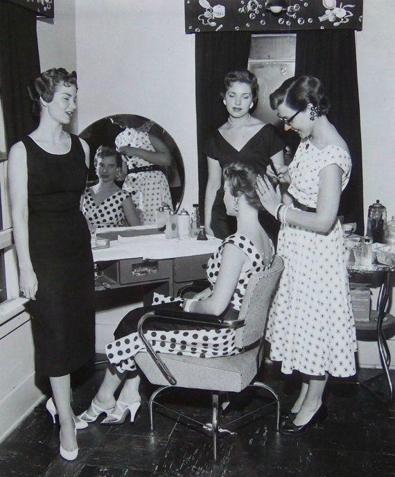 1950s Hair Salon Photo Four Beautiful Women by ...