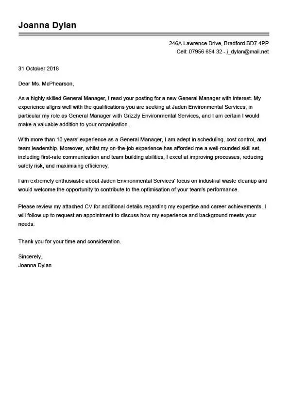 The Best Cover Letter Examples For Your Job Application My Perfect Cv Cover Letter Example Best Cover Letter Examples Cover Letter Template