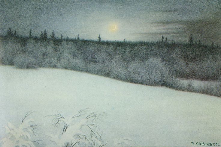 we-are-ruined: Theodor Kittelsen - New Year's New Moon