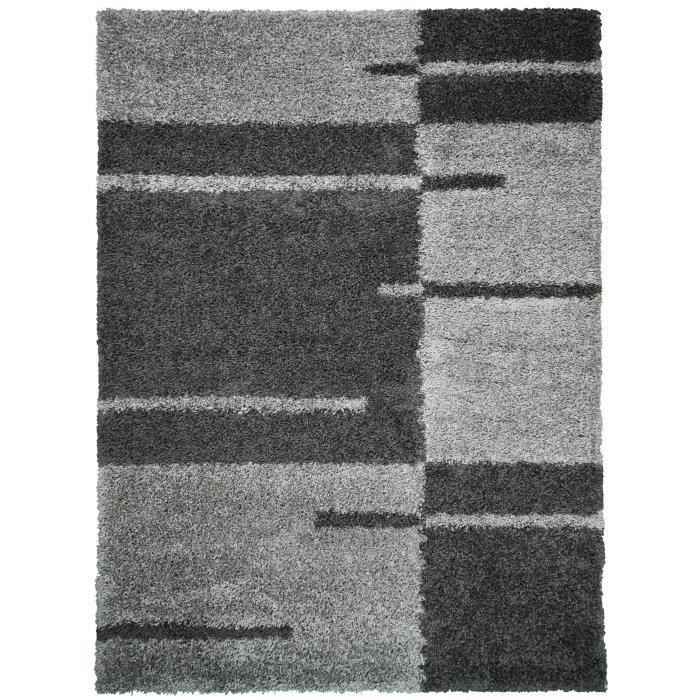 Nora Tapis De Salon Shaggy 160 X 230 Cm Gris Anthracite A Rayures Tapis Salon Tapis Et Tapis Escalier
