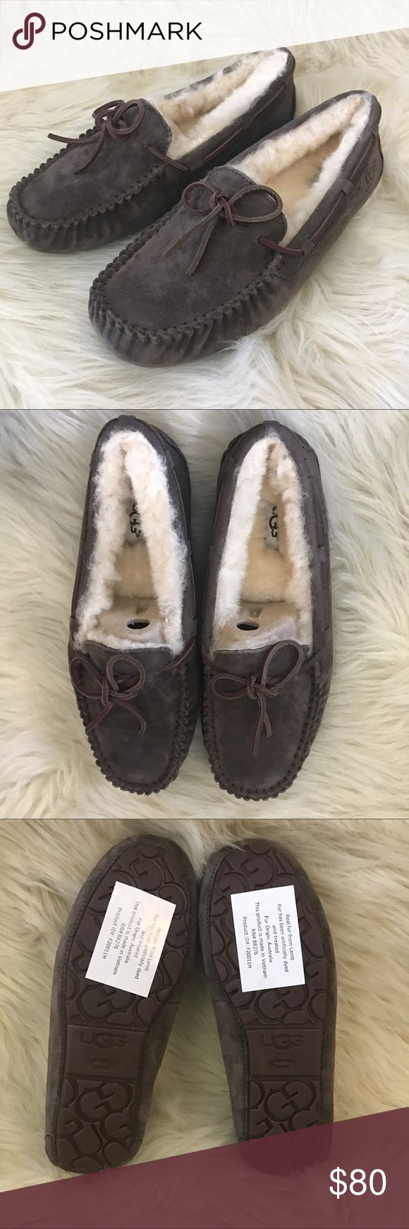 "UGG ""Dakota"" moccasin sheepskin suede slippers ✨BNWOB✨ color: espresso   🛍2+ BUNDLE = 💰SAVINGS!  ‼️= PRICE FIRM!   💯BRAND AUTHENTIC   ✈️ SUPER FAST SHIPPING!   🖲 USE THE OFFER BUTTON TO NEGOTIATE!  ❓ Questions? Just comment! ❤️  🤗❤✌🏼HAPPY POSHING!✌🏼❤️🤗 UGG Shoes Moccasins"