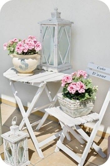 "This will look lovely sitting outside my ""Love Shack"". Shabby Chic idea"