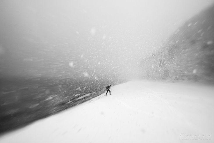 Gdynia, snow, city, street, bw, black&white, fine art, inspirations