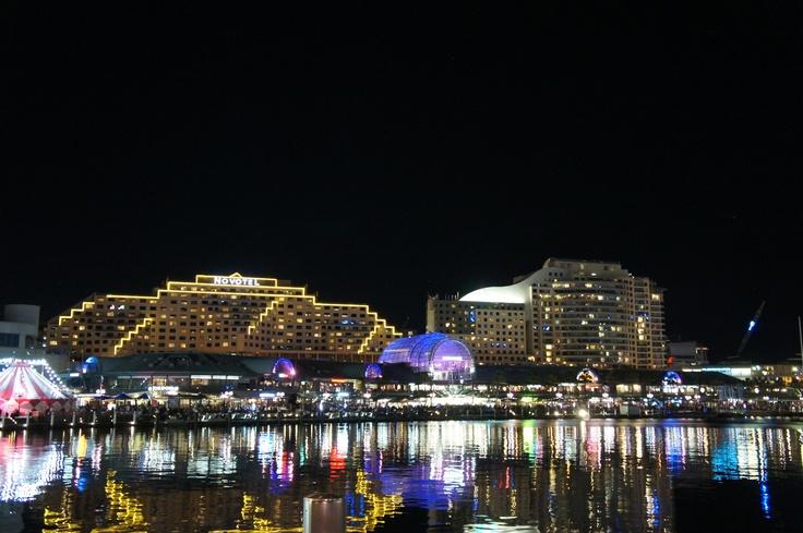 Darling Harbour at Night, Sydney, NSW, Australia
