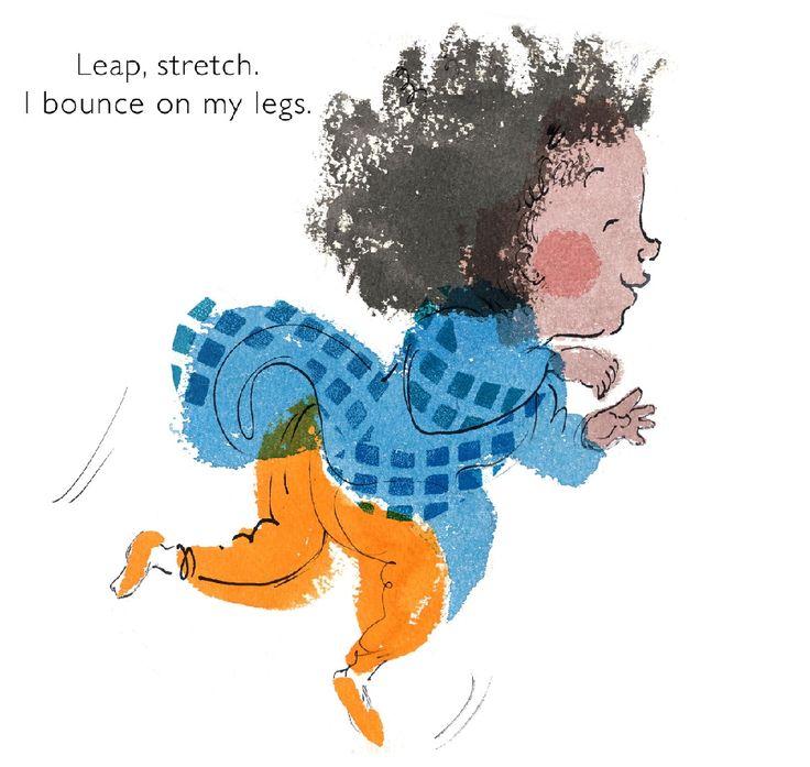 #Children'sbookillustration  #toddlerjumping #kidlitillustration baby board book character