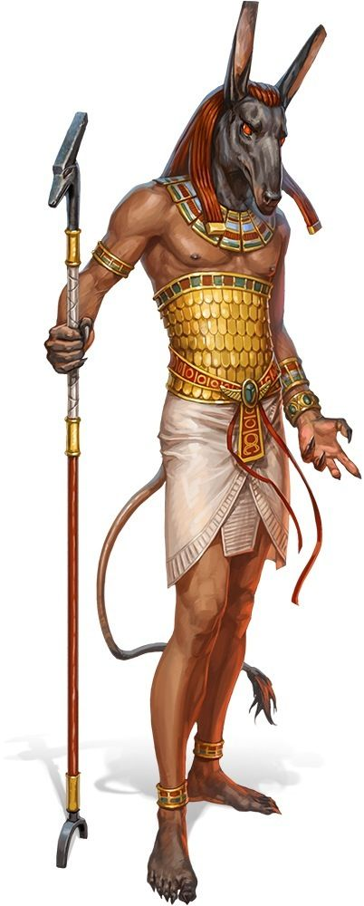 """Anubis é o nome grego de um deus chacal-dirigido associado com o mummification ea vida após a morte na antiga religião egípcia. Apesar de ser um dos mais antigos e """"um dos deuses mais freqüentemente descritos e mencionado"""" no panteão egípcio, no entanto, Anubis jogou quase nenhum papel em mitos egípcios."""