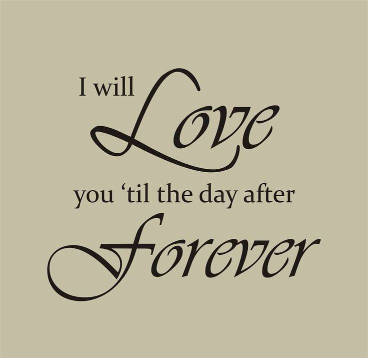 I Love You Forever Quotes For Husband : ... Stickers Decals Love you quotes, I love you quotes and My love