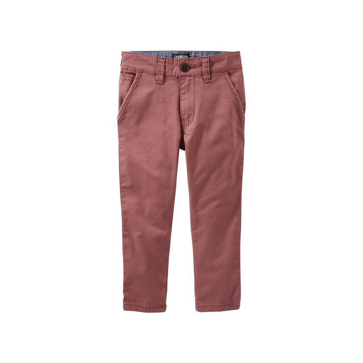 Boys 4-12 OshKosh B'gosh Slim Chino Pants, Red