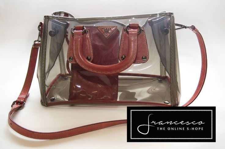 Borsa Prada - Shopping bag pelle e plex, usata come nuova - originale