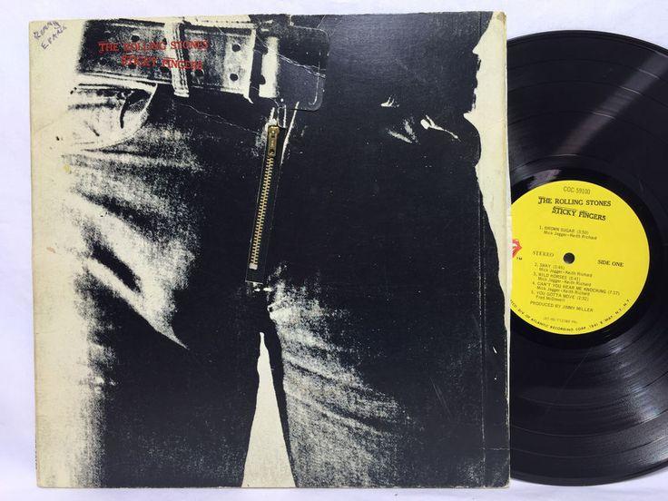 Rolling Stones Sticky Fingers Original Vinyl Record Lp Us