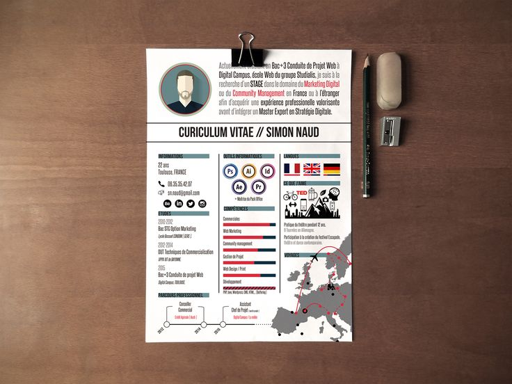 169 best CV Design images on Pinterest Creative industries - free creative word resume templates