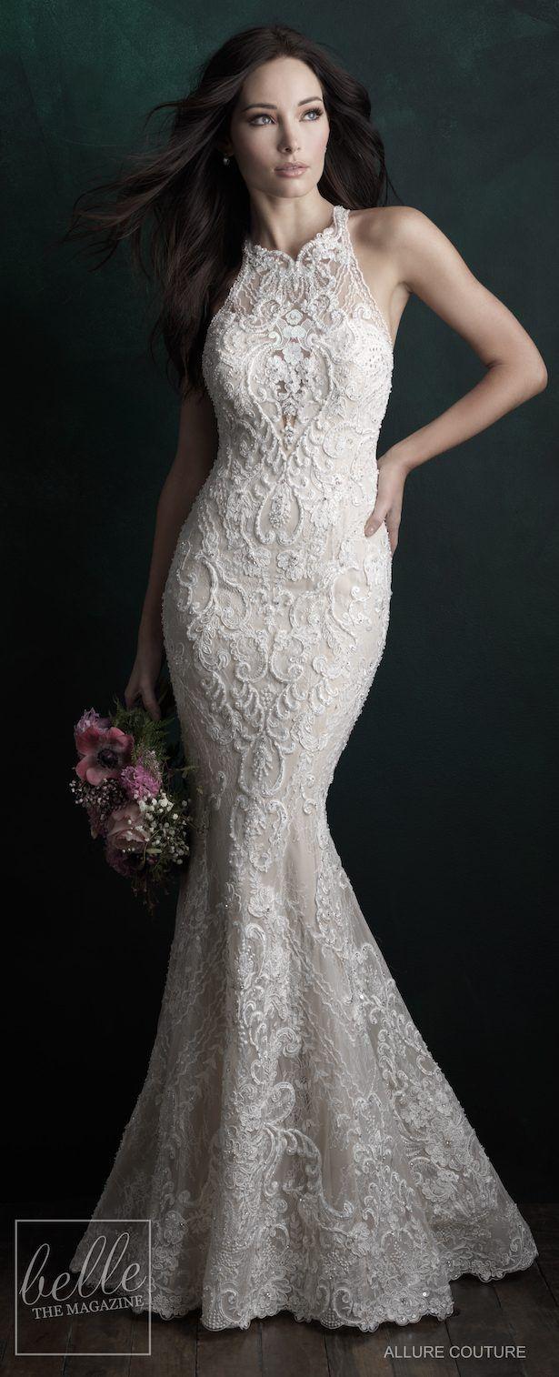 Bridal Trends Halter Wedding Dresses Belle The Magazine Wedding Gowns Lace Allure Bridal Allure Bridal Gowns [ 1514 x 615 Pixel ]